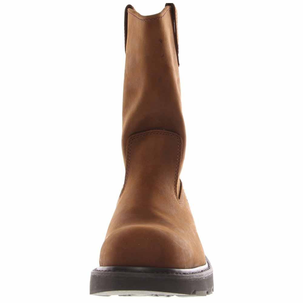 Wolverine Worldwide W04707 14.0M Steel-Toe Work Boots, Medium Width, Brown Nubuck Leather, Men's Size 14