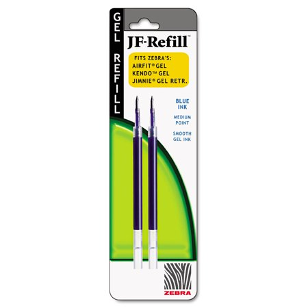 JF Refill for Jimnie Gel RT/Sarasa/Z-Grip Gel Roller Ball, Med, BE, 2/Pack ()