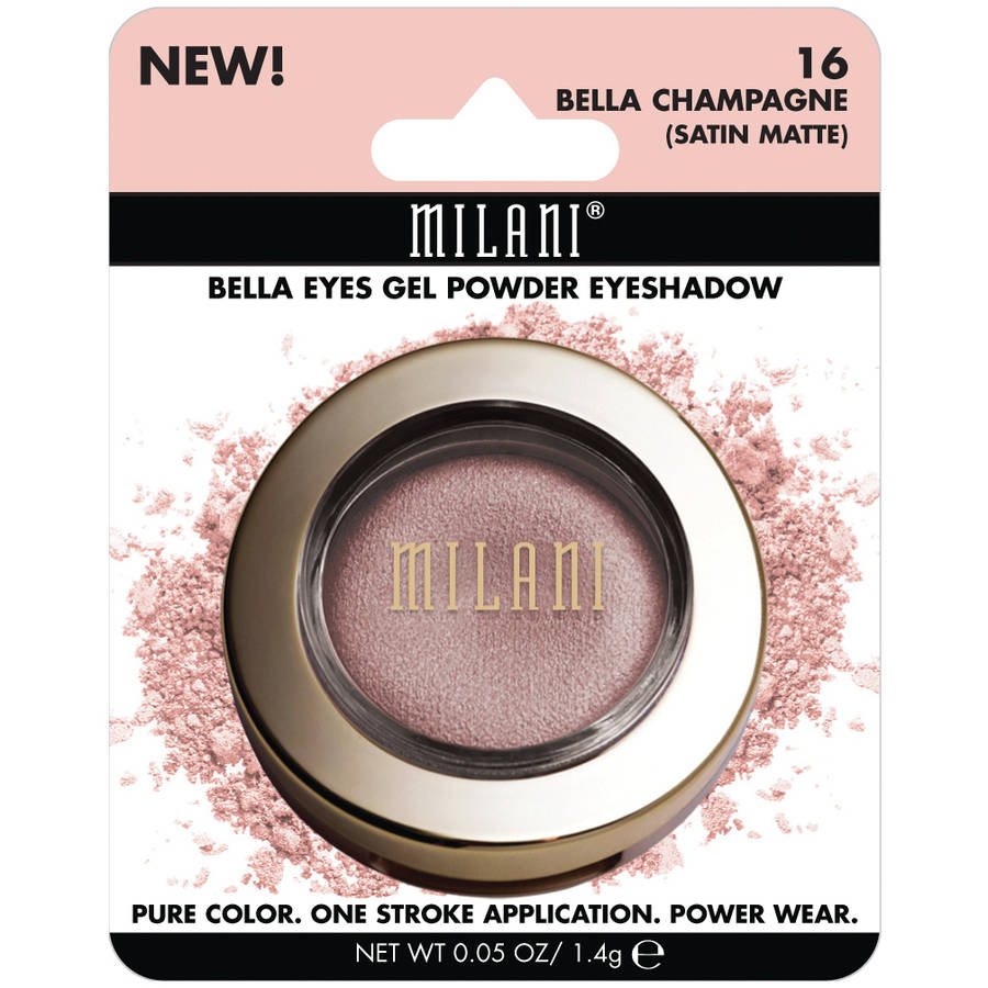 Milani Bella Eyes Gel Powder Eyeshadow, 16 Bella Champagne Satin Matte, 0.05 oz