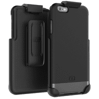 iPhone 6 6S Belt Clip Case, Encased (SlimShield Series) Hybrid Cover w/ Secure-fit Holster (2pc set)