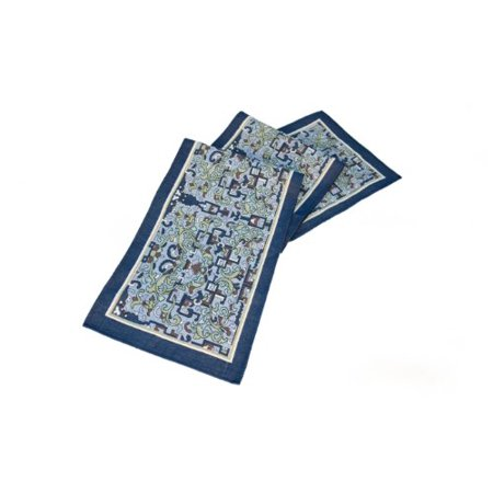 Rennie   Rose Collection 76 Inch Table Runner  Asian Ornament