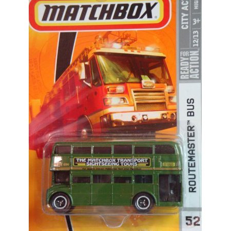 LONDON BUS Matchbox City Action Series #52 Routemaster Double Decker Bus Green