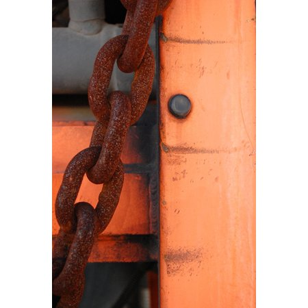 LAMINATED POSTER Metal Rust Abstract Rusty Steel Chain Rivets Poster Print 11 x 17