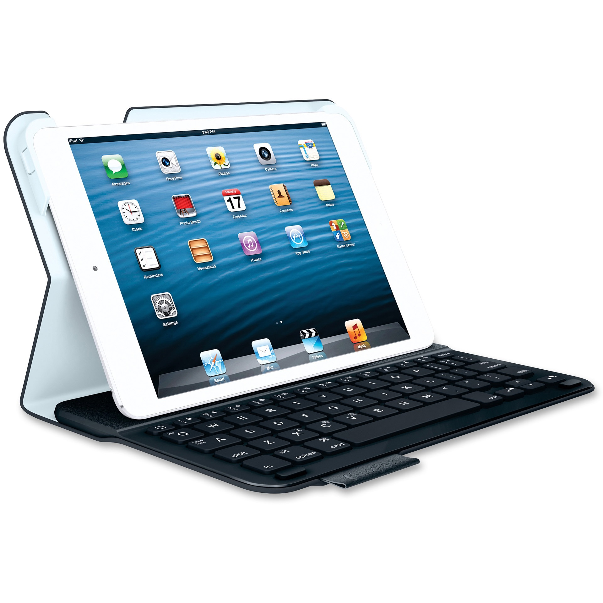 "Logitech Keyboard/Cover Case (Folio) for 7"" iPad mini - Black"
