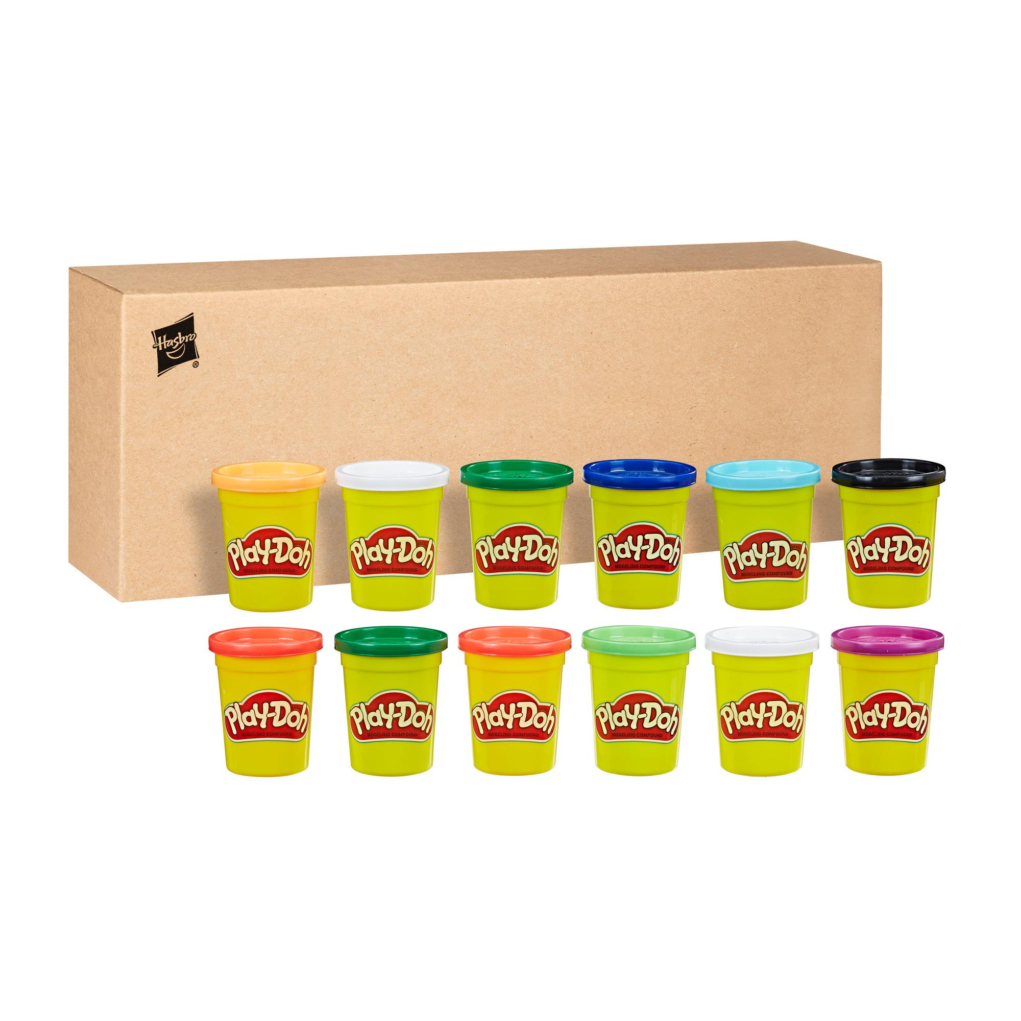 Play-Doh Bulk Winter Colors 12-Pack of Non-Toxic Modeling Compound, 4-Ounce Cans