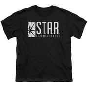 The Flash S.T.A.R. Big Boys Youth Shirt Black