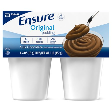 Ensure Pudding, Creamy Milk Chocolate, 4-Ounce Cup, 4 Count, (Pack of