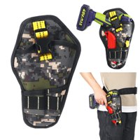 Cordless Electric Drill Screwdriver Heavy Duty Tool Storage Bag Multi-Pocket Waist Pouch