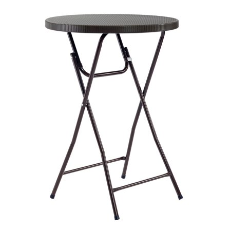 Sandusky Commercial Heavy Duty Round Folding Cocktail Table, Brown