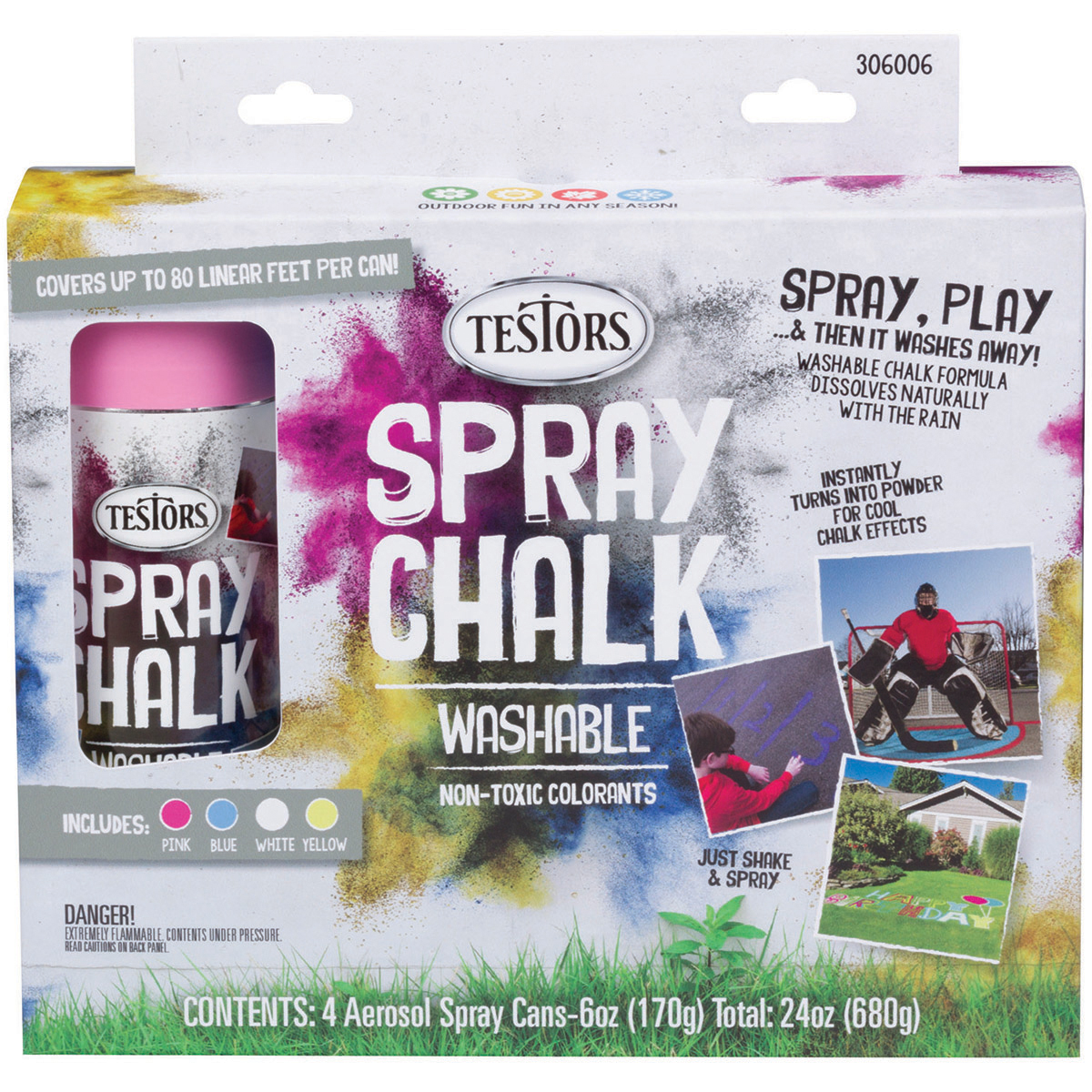 Testors Spray Chalk Kit-4/Pkg