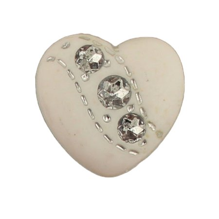 WEDDING HEART - 100 BUTTONS (Wedding Button)