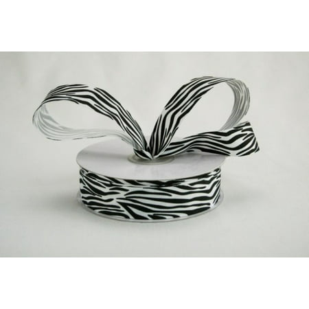 Ribbon Bazaar Grosgrain Zebra Print 2-1/4 inch White 25 yards Ribbon](Zebra Print Ribbon)