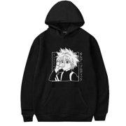 AkoaDa Anime Hunter X Hunter Printed Hoodies Unisex Fashion Long Sleeve Sweatshirt Hooded Pullover Tops