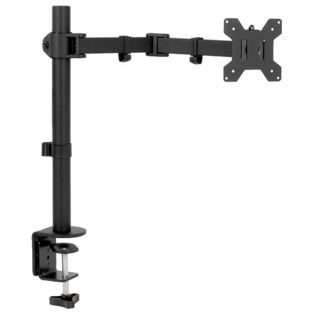 32' Single Arm (VIVO Full Motion Single VESA Monitor Desk Mount Stand with Double Center Arm Joint   For 13
