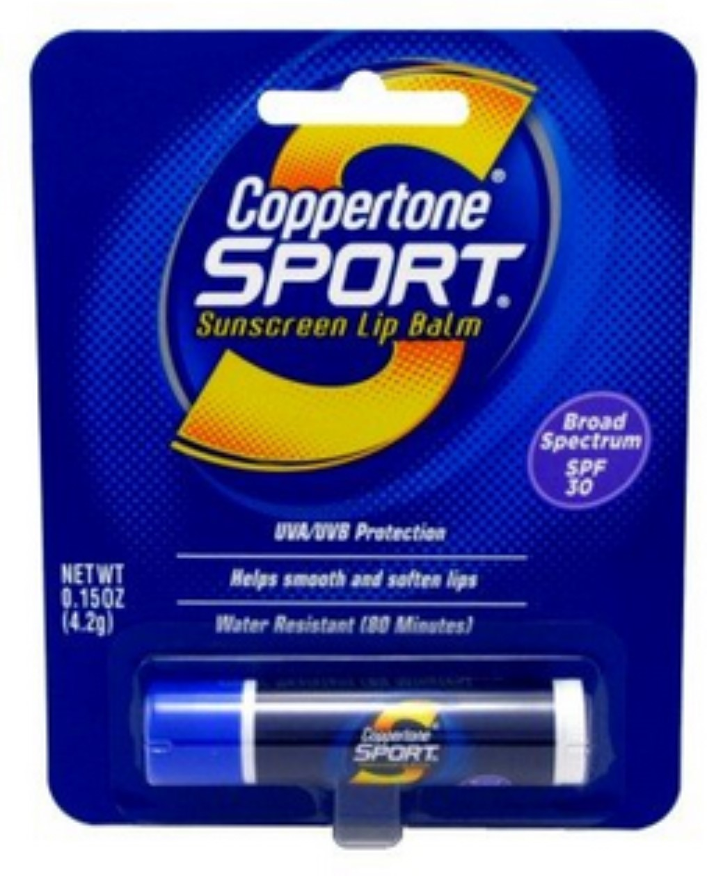 Coppertone Sport Sunscreen Lip Balm SPF 30 0.15 oz (Pack of 6) 6 Pack - Summers Eve Cleansing Cloth for Sensitive Skin, Island Splash 16 Each