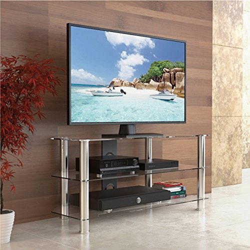 Fitueyes Universal Tv Stand base with Storage space for u...