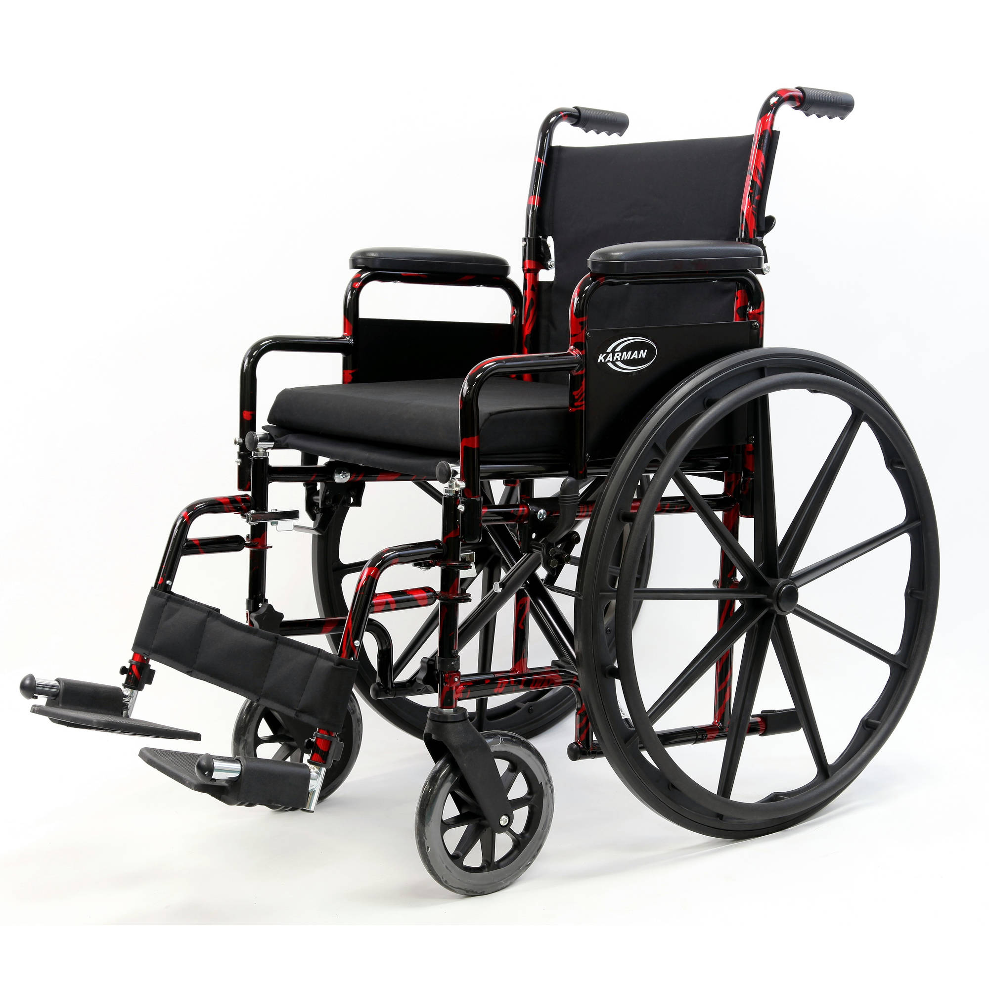 """Karman LT-770Q Lightweight Wheelchair with Removable Armrest, Quick Release Wheels, 18"""" seat"""