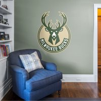 Fathead Milwaukee Bucks: Logo - Giant Officially Licensed NBA Removable Wall Decal