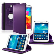Samsung Galaxy Tab A 8.0 360 Rotating Leather Cover Purple