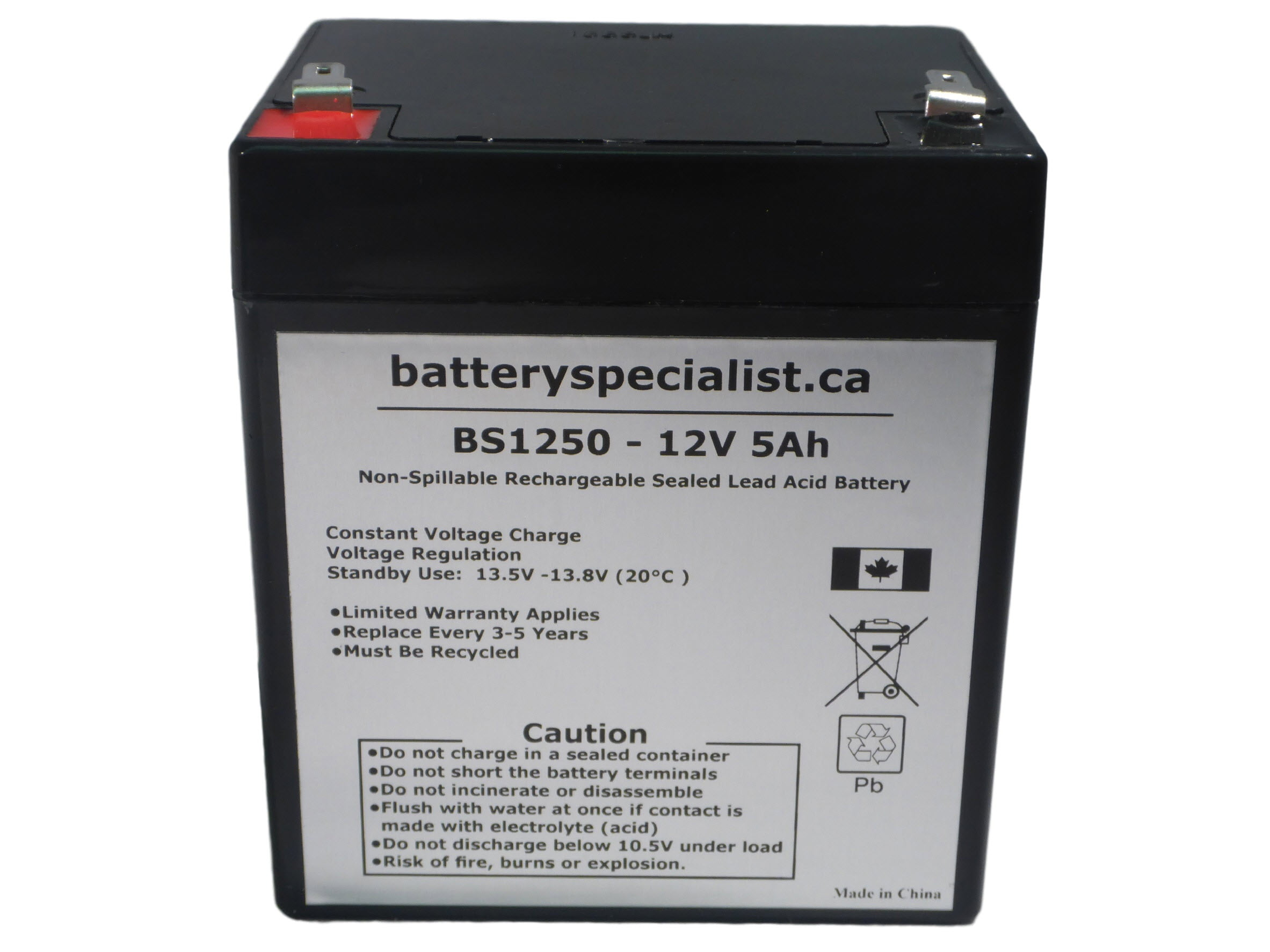 12v 5ah Battery >> 12v 5ah Rechargeable Sealed Lead Acid Battery