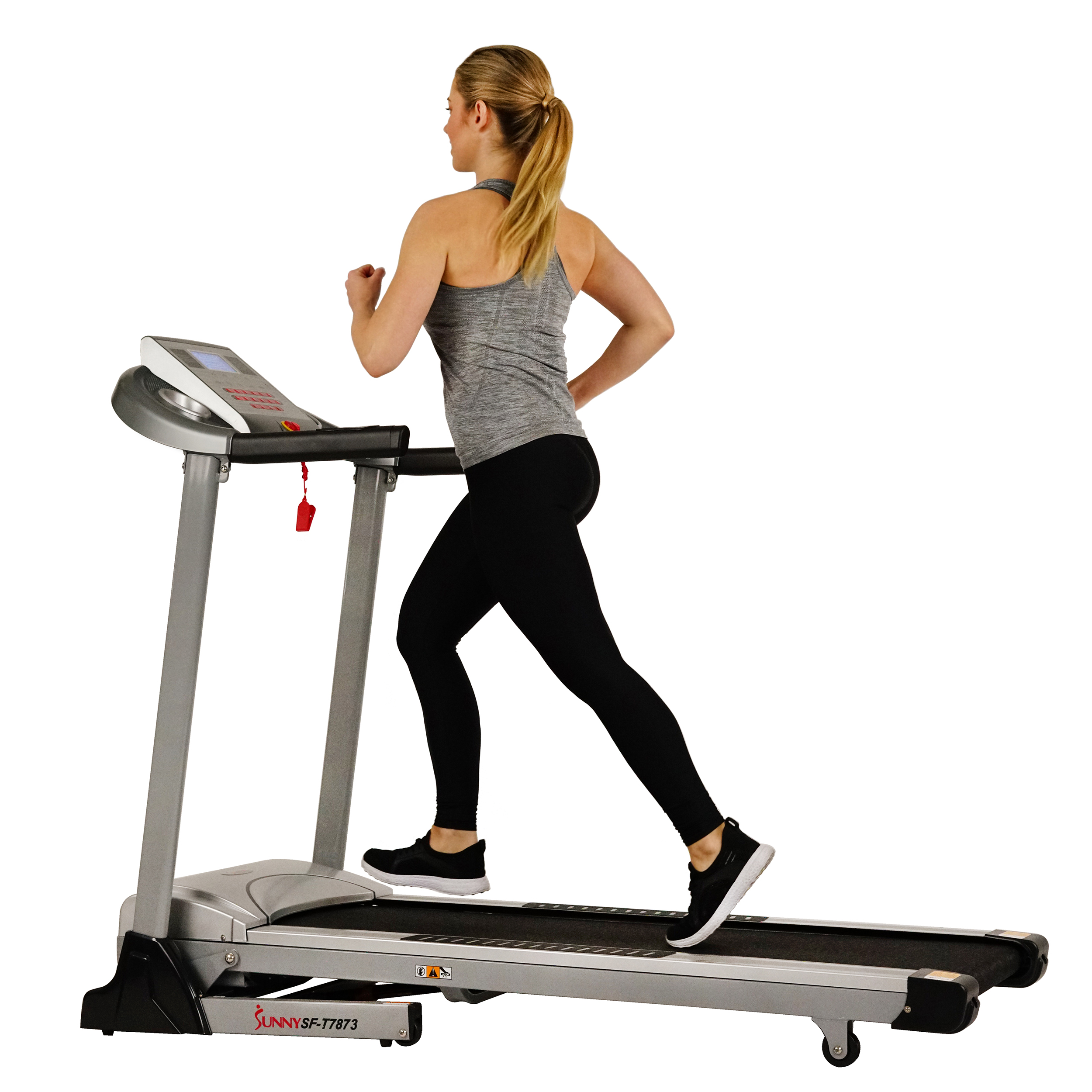 Sunny Health & Fitness Treadmill, High Weight Capacity with Auto Incline, MP3 and Body Fat Function - SF-T7873