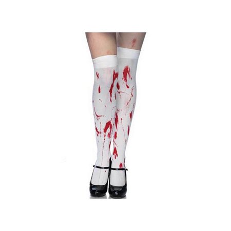 Leg Avenue Zombie Stockings 6675 White/Red