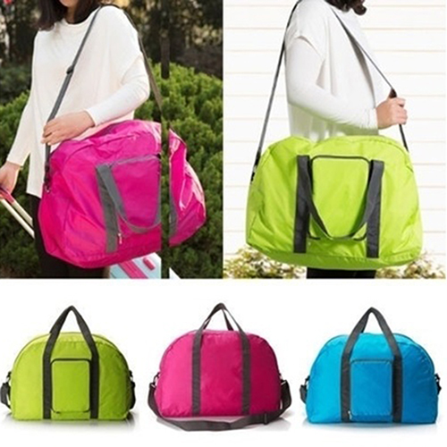 Newpee Unisex Durable Foldable Nylon Duffle Bag Travel Luggage Tote Bag Shoulder Bag by 9.55