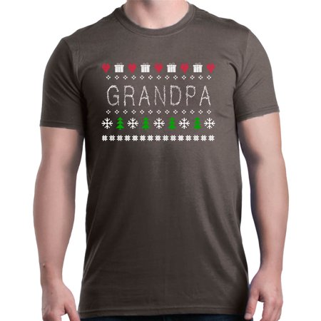 Links Stitch Sweater - Shop4Ever Men's Grandpa Cross Stitch Ugly Sweater Holiday Graphic T-shirt