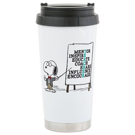 CafePress - Snoopy - Teacher Notes Stainless Steel Travel Mug - Stainless Steel Travel Mug, Insulated 16 oz. Coffee
