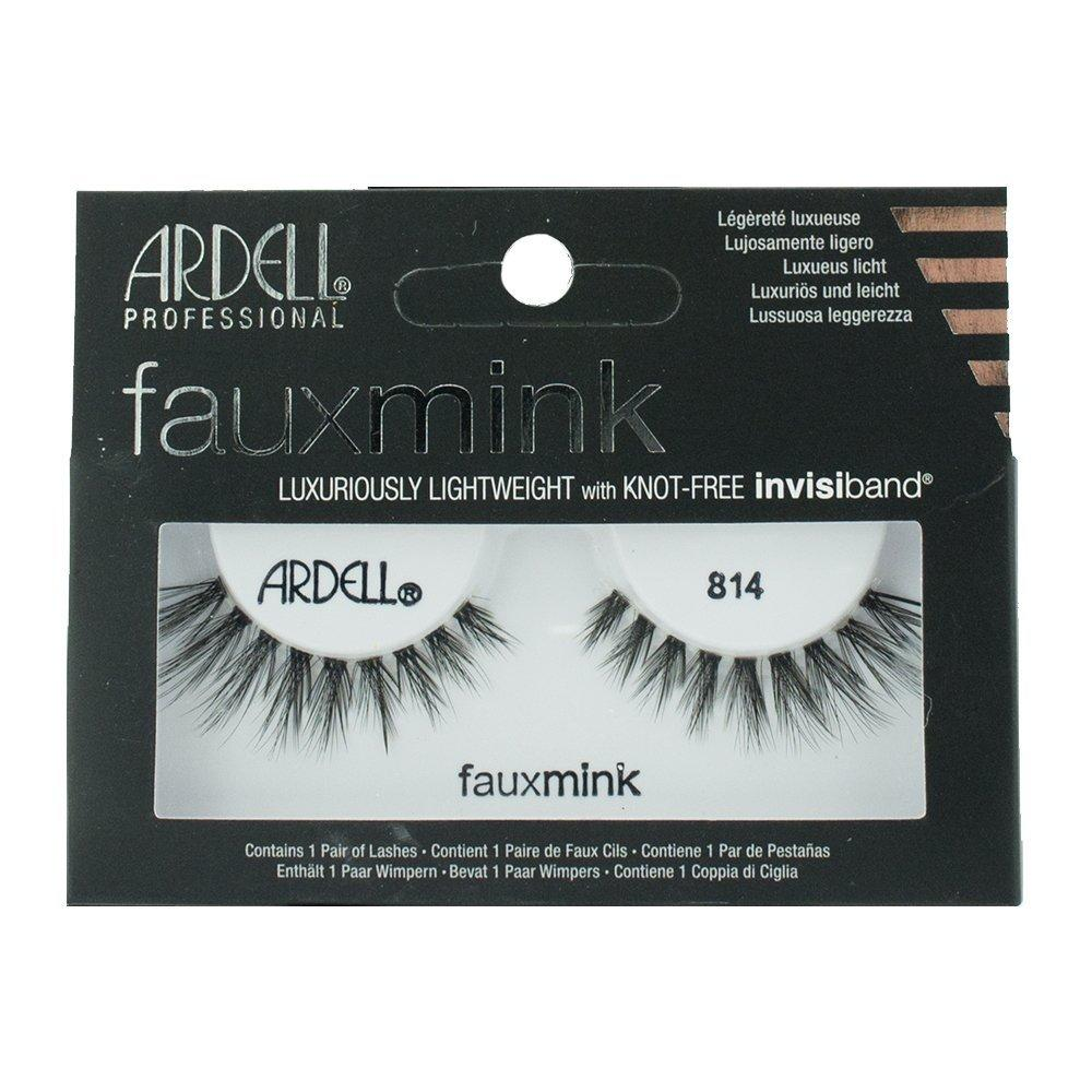 Black Faux Mink Strip Lashes 814, Creates a dramatic, spiked effect By Ardell