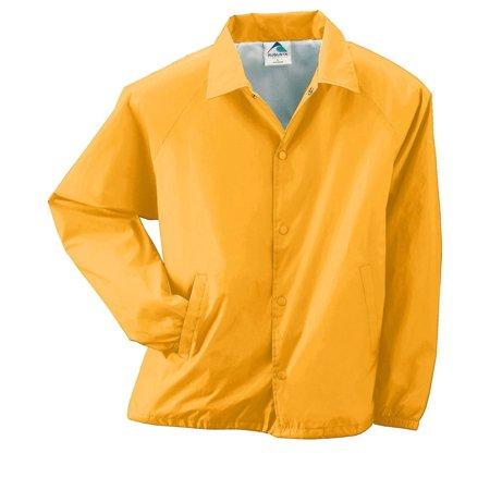 Orange Travel Jacket - Augusta 3100 Lined Nylon Coach's Jacket -Gold-3X-Large