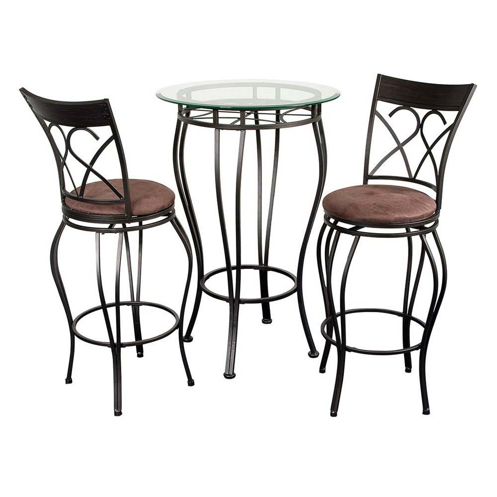 Amazing Glass Pub Table Part - 6: Walmart.com
