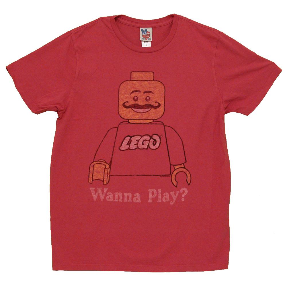Lego Wanna Play Vintage Style Junk Food Adult T-Shirt Tee