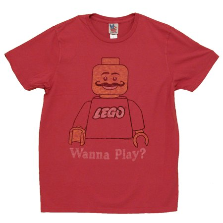 - Lego Wanna Play Vintage Style Junk Food Adult T-Shirt Tee