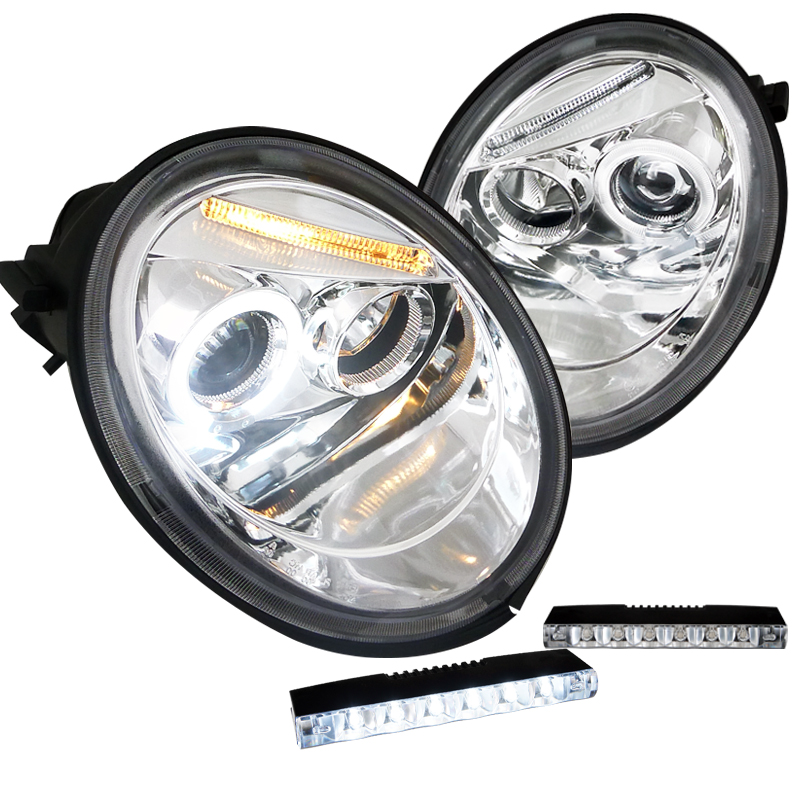 2002 2003 2004 VOLKSWAGN BETLE HEAD LAMP LIGHT W//TURBO S MODEL LEFT AND RIGHT
