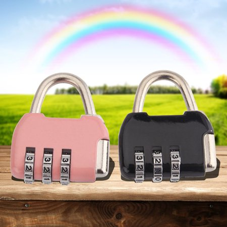 Random Lock (Mini Metal 3 Digits Number Password Luggage Combination Lock Padlock DE Random Color)