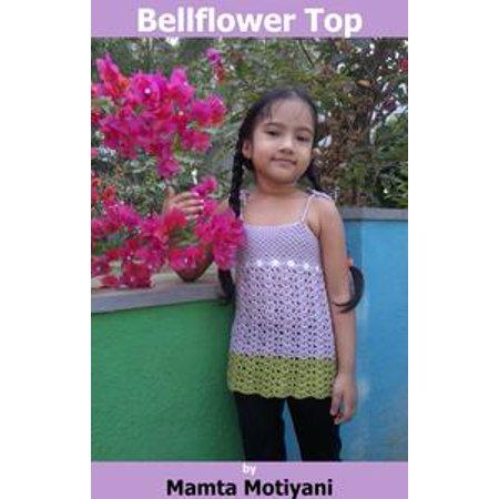 Bellflower Split Back Halter Crop Top | Cool & Easy Crochet Pattern For Girls - eBook