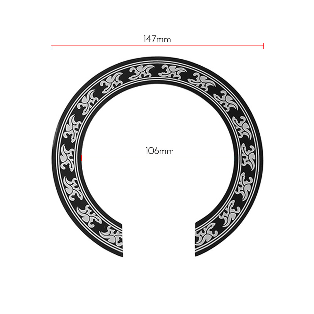 SUPVOX Guitar Rosette Soundhole Decal Inlay Sticker Decal for Guitar Tenor Ukuleles Musical Instrument Accessory
