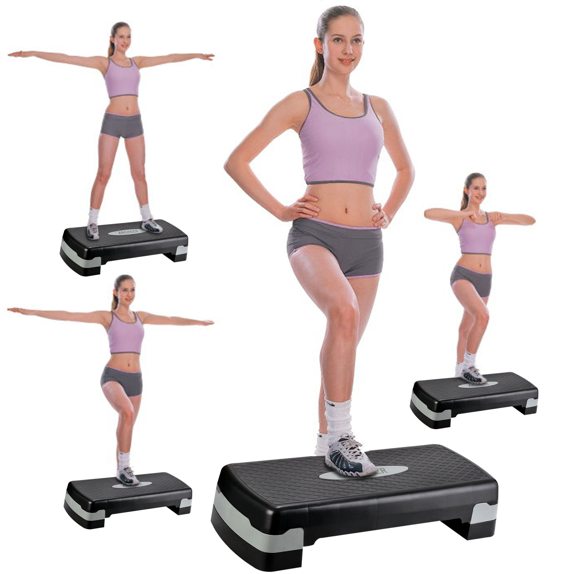"Acheer Stepper Exercise Step Trainer Aerobic Stepper Platform Adjust 4""- 6""  Workout high quality BYE"