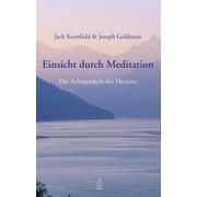 Einsicht durch Meditation - eBook