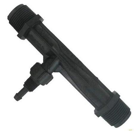 Mazzei (584C-PVDF) Gas/Liquid Injector - Kynar Black 1/2