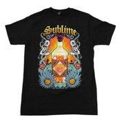 Rockline FEA-SI1396-M Sublime Sun Bottle Soft Adult Mens T-Shirt, Black - Medium