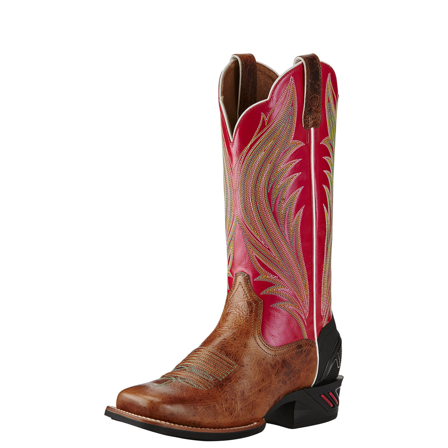Ariat Catalyst Prime Women Square Toe Leather Pink Western Boot by Ariat