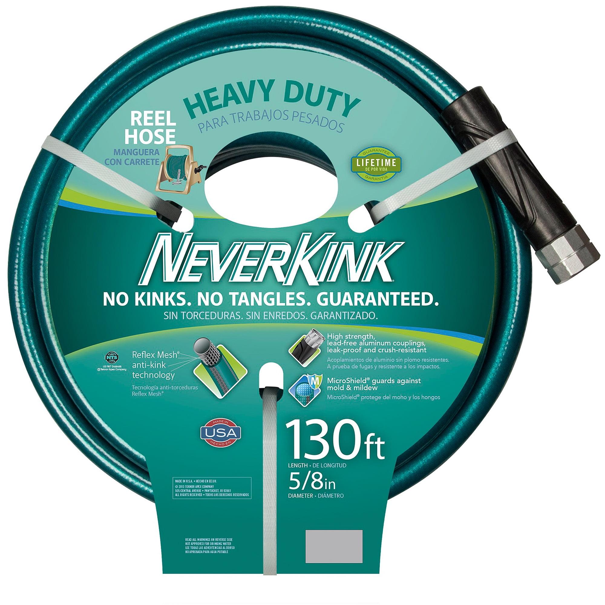 Teknor Apex Neverkink Hose, 130', Teal/Grey