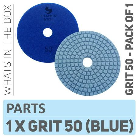 Grit Resin Wet Stone Pads (Stadea PPW102D Diamond Polishing Pads 4 Inch Grit 50 - For Concrete Marble Terrazzo Floor Granite Stone Counter Edge Wet Polishing )