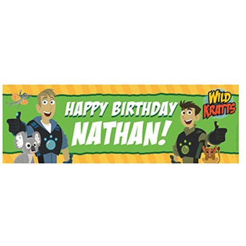 Personalized Wild Kratts Birthday Adventure Banner