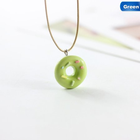 AkoaDa Fashion Cute Lovely Donuts Ceramic Pendant Necklace For Students Girl Best Friends Handmade Resin Charm Jewelry (Girly Best Friend Tattoos)