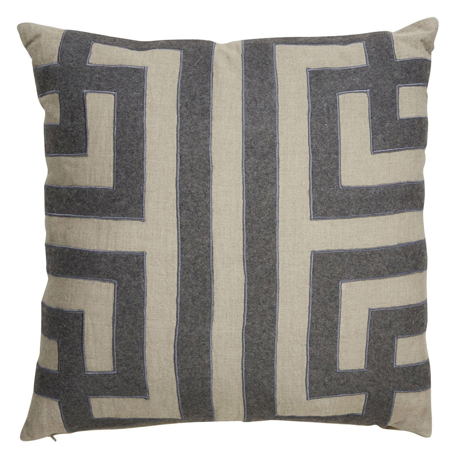 Nikki Chu by Jaipur Geometric Linen Square Decorative Pillow