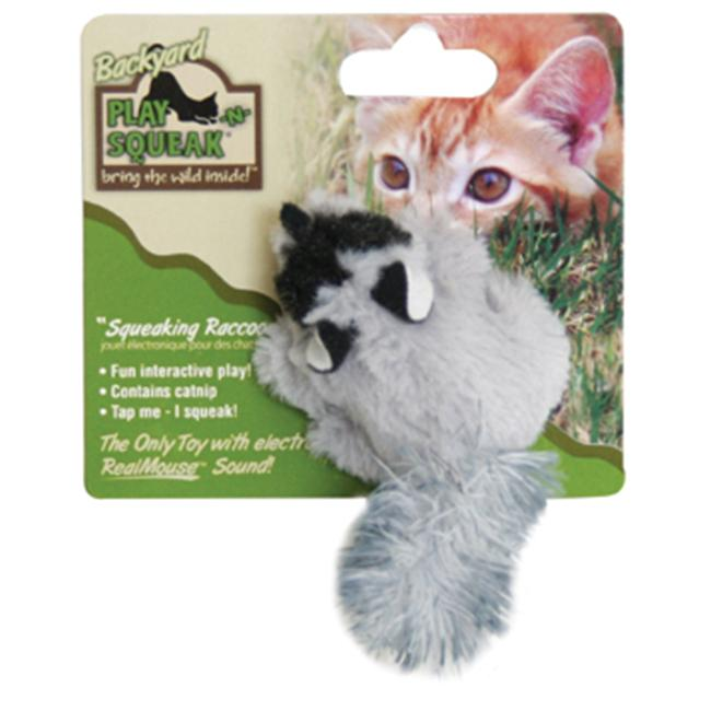 Ourpets Company CT-10496 Play-N-Squeak Backyard Raccoon