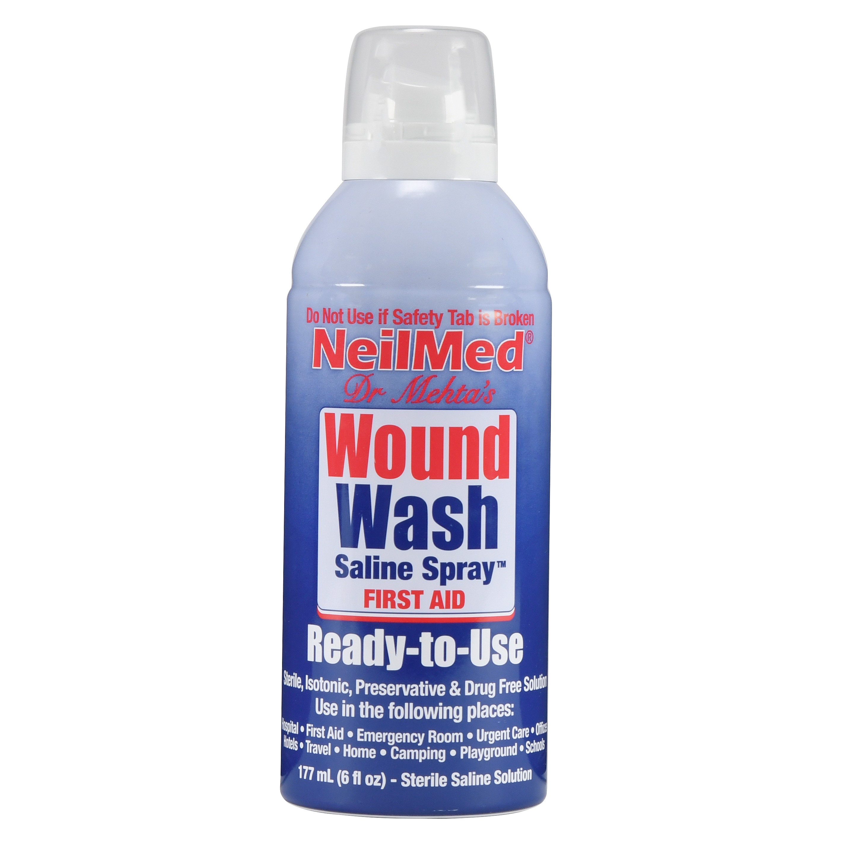 Neilmed Neil Cleanse Sterile Saline Solution Wound Wash 6 Fl Oz